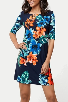 Shoptiques Product: Celena Blooms Tambour Dress