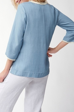 Tommy Bahama Chambray Embroidered Tunic - Alternate List Image