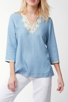 Shoptiques Product: Chambray Embroidered Tunic