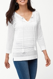 Tommy Bahama Pickford Pointelle Sweater - Front cropped