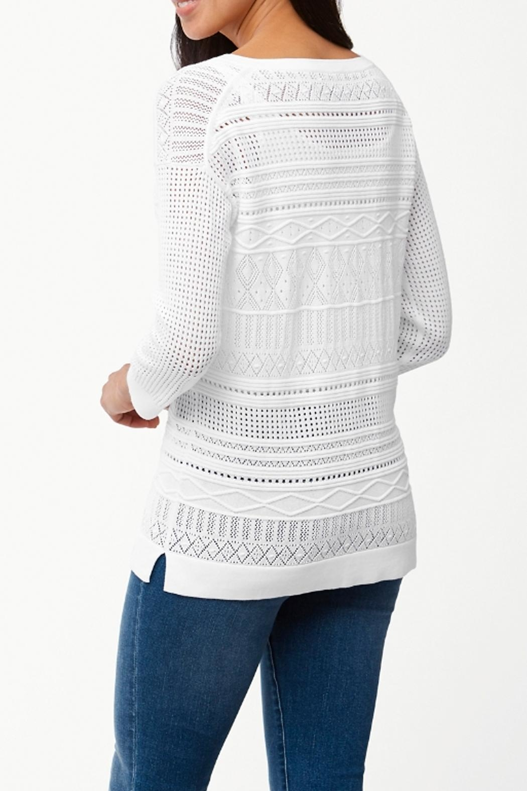 Tommy Bahama Pickford Pointelle Sweater - Front Full Image
