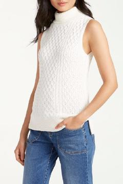 Tommy Bahama Sleeveless Cable Turtleneck Top - Product List Image