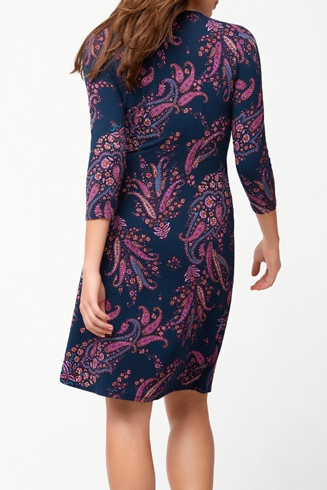 Tommy Bahama Tambour Faux Wrap Dress - Front Full Image