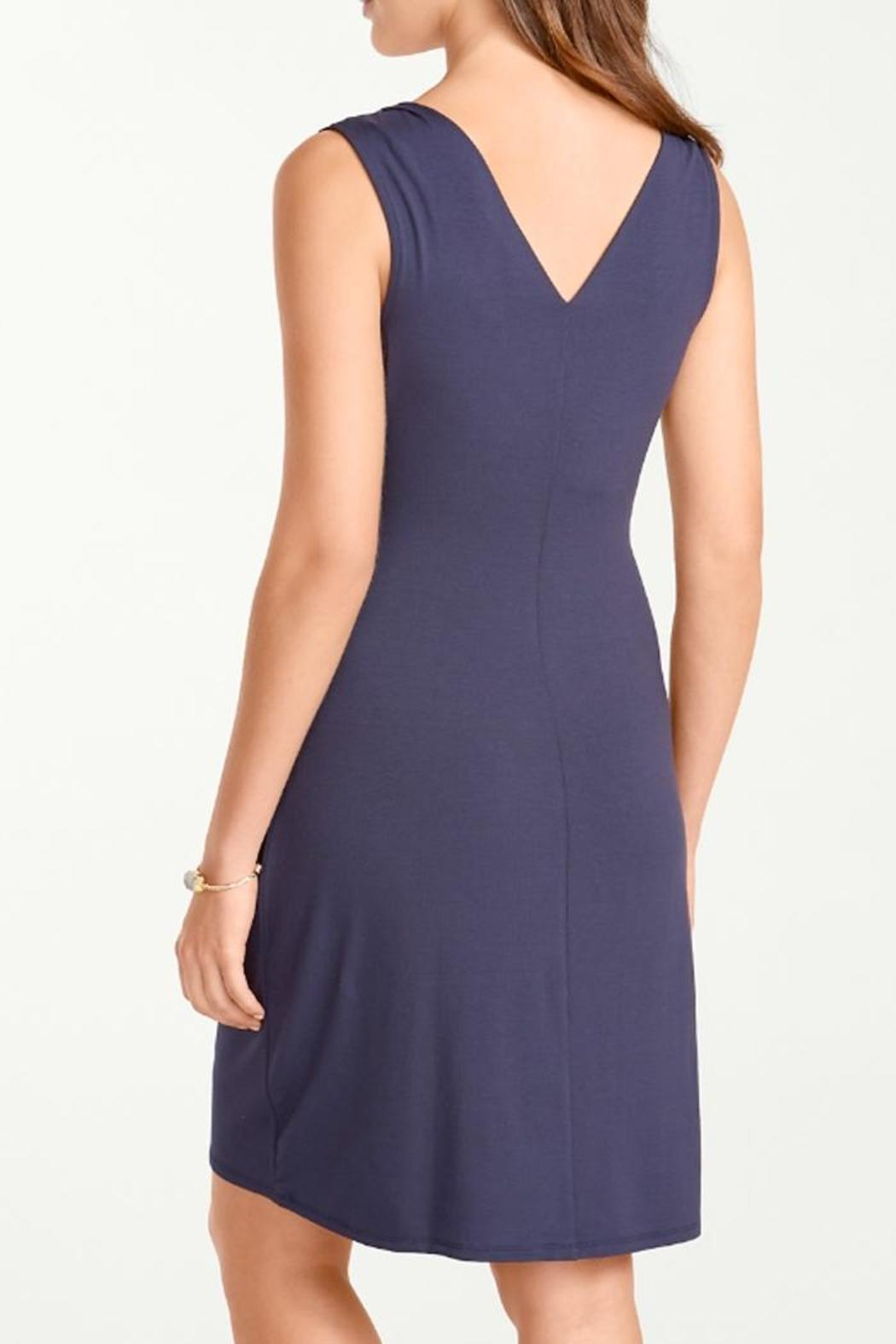 Tommy Bahama Tambour Gathered Dress - Front Full Image