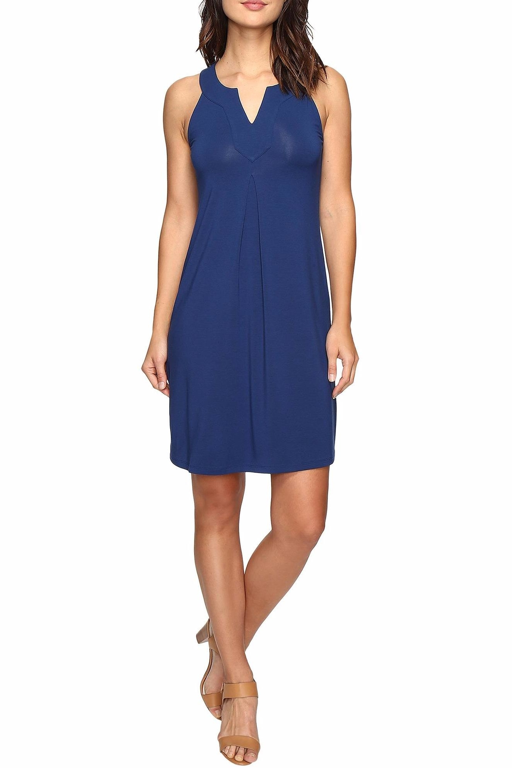 Tommy Bahama Tambour Notch Neck Dress - Front Cropped Image