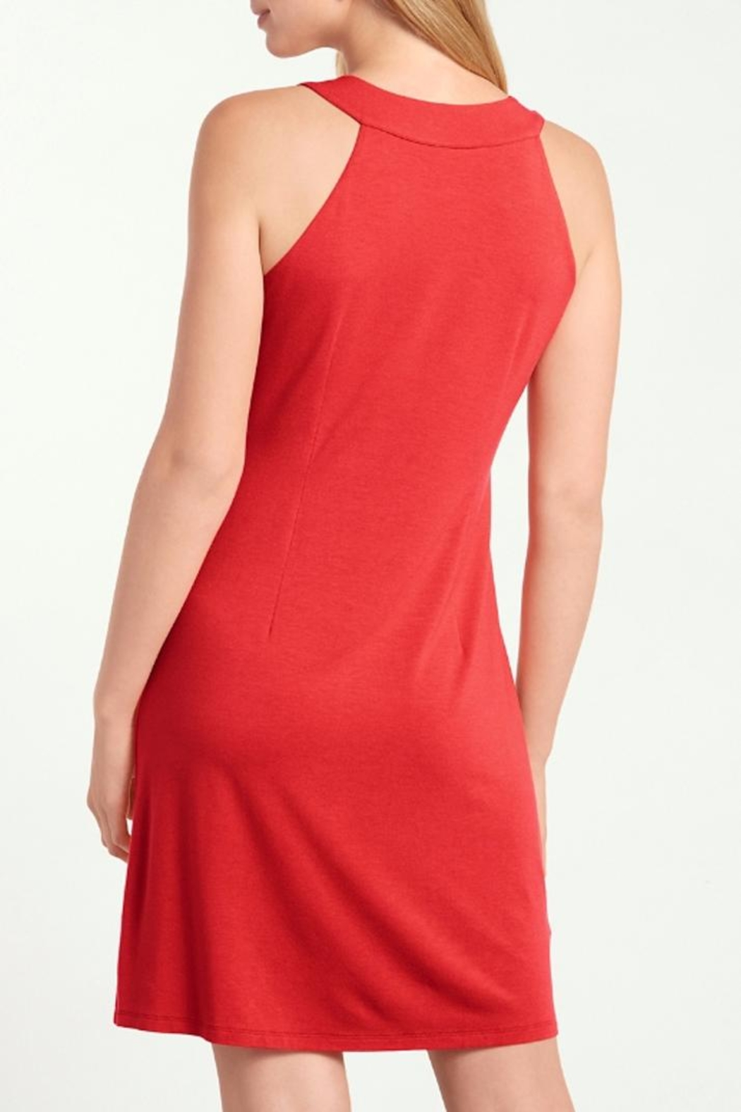 Tommy Bahama Tambour Notch Neck Dress - Front Full Image