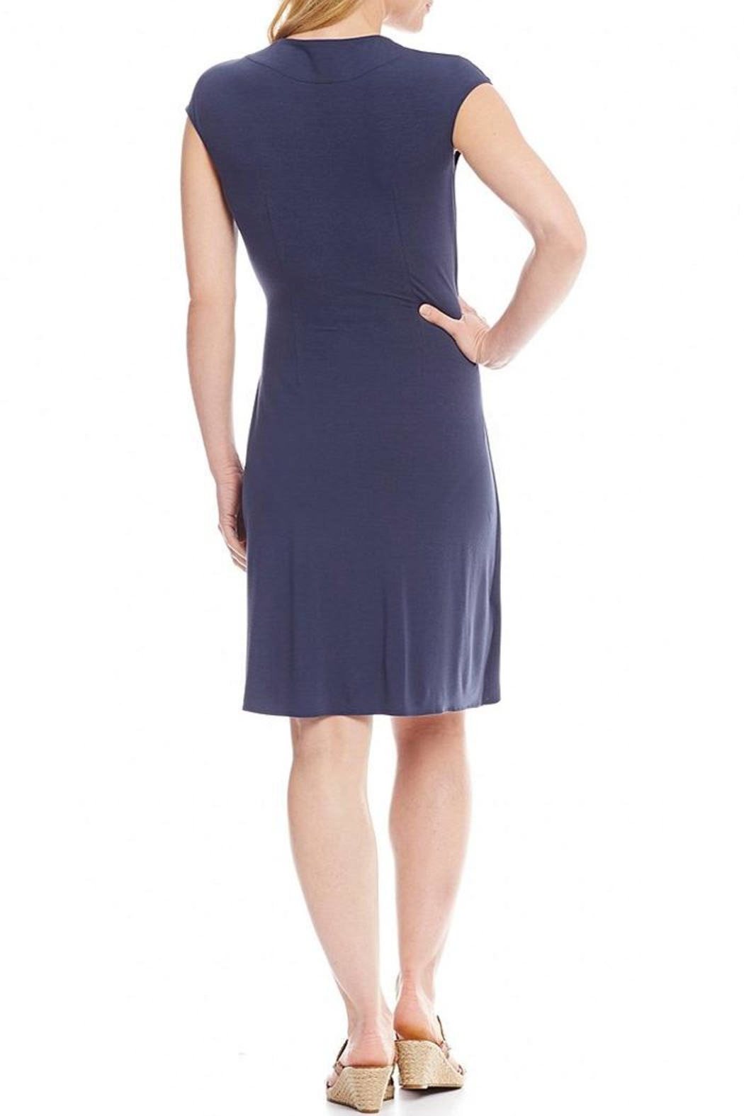 Tommy Bahama Tambour Side Gathered Dress - Front Full Image