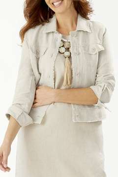 Tommy Bahama Two-Palms Raw-Edge-Linen Jacket - Product List Image