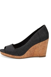 TOMS Black Denim Stella Sandals - Product Mini Image