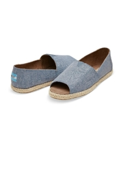TOMS Blue Slub Espardrilles - Product Mini Image