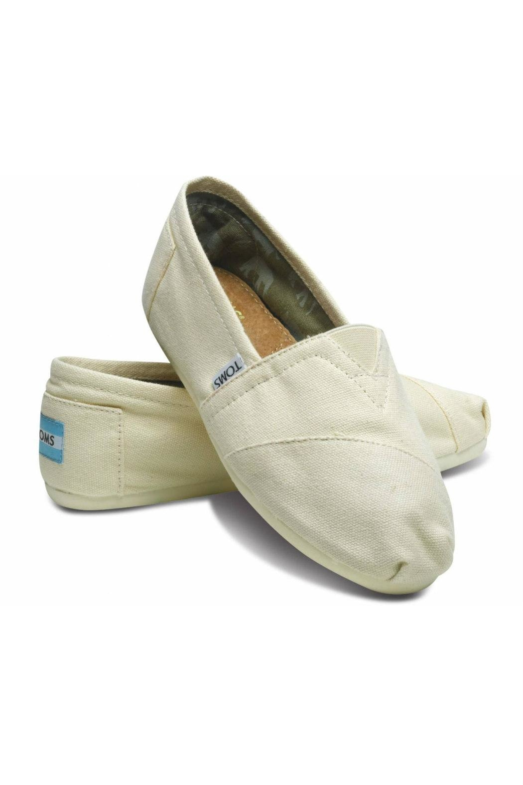 TOMS Natural Canvas Alpergata Shoes - Front Full Image