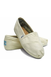 TOMS Natural Canvas Alpergata Shoes - Front full body