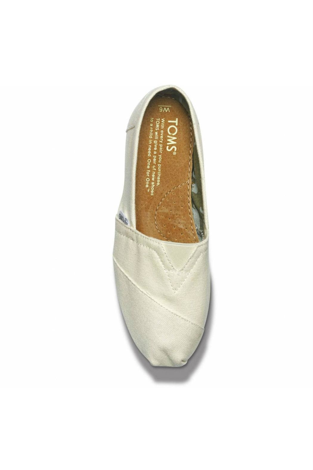 TOMS Natural Canvas Alpergata Shoes - Side Cropped Image