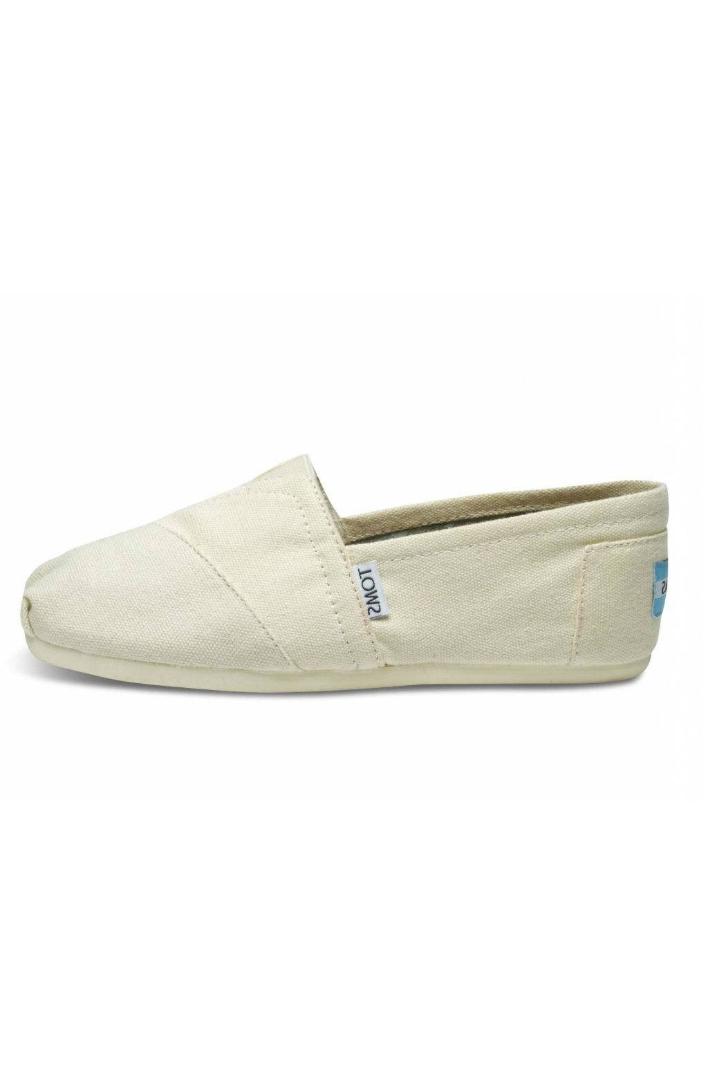 TOMS Natural Canvas Alpergata Shoes - Main Image