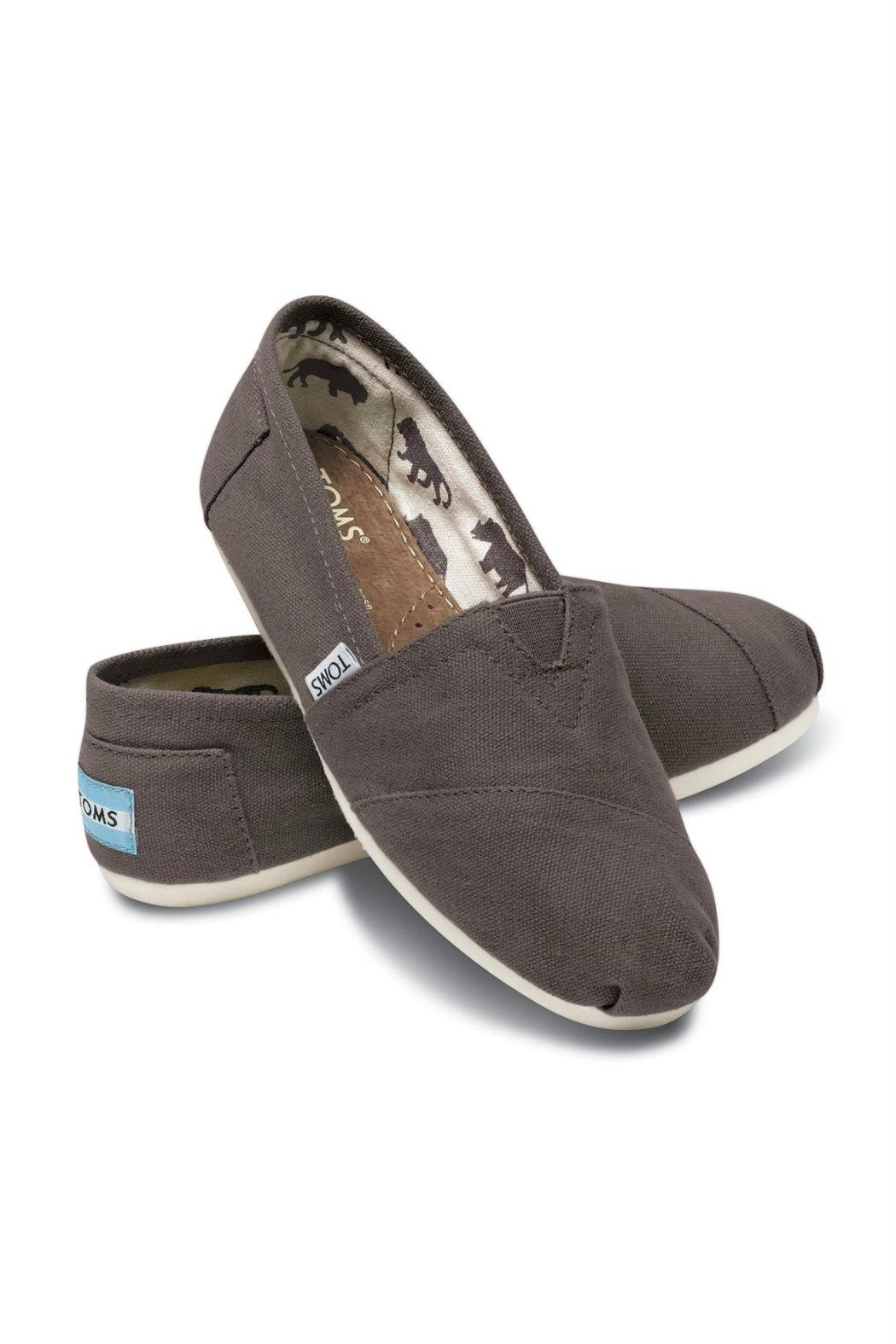 TOMS Grey Canvas Alpergata Shoes - Front Full Image