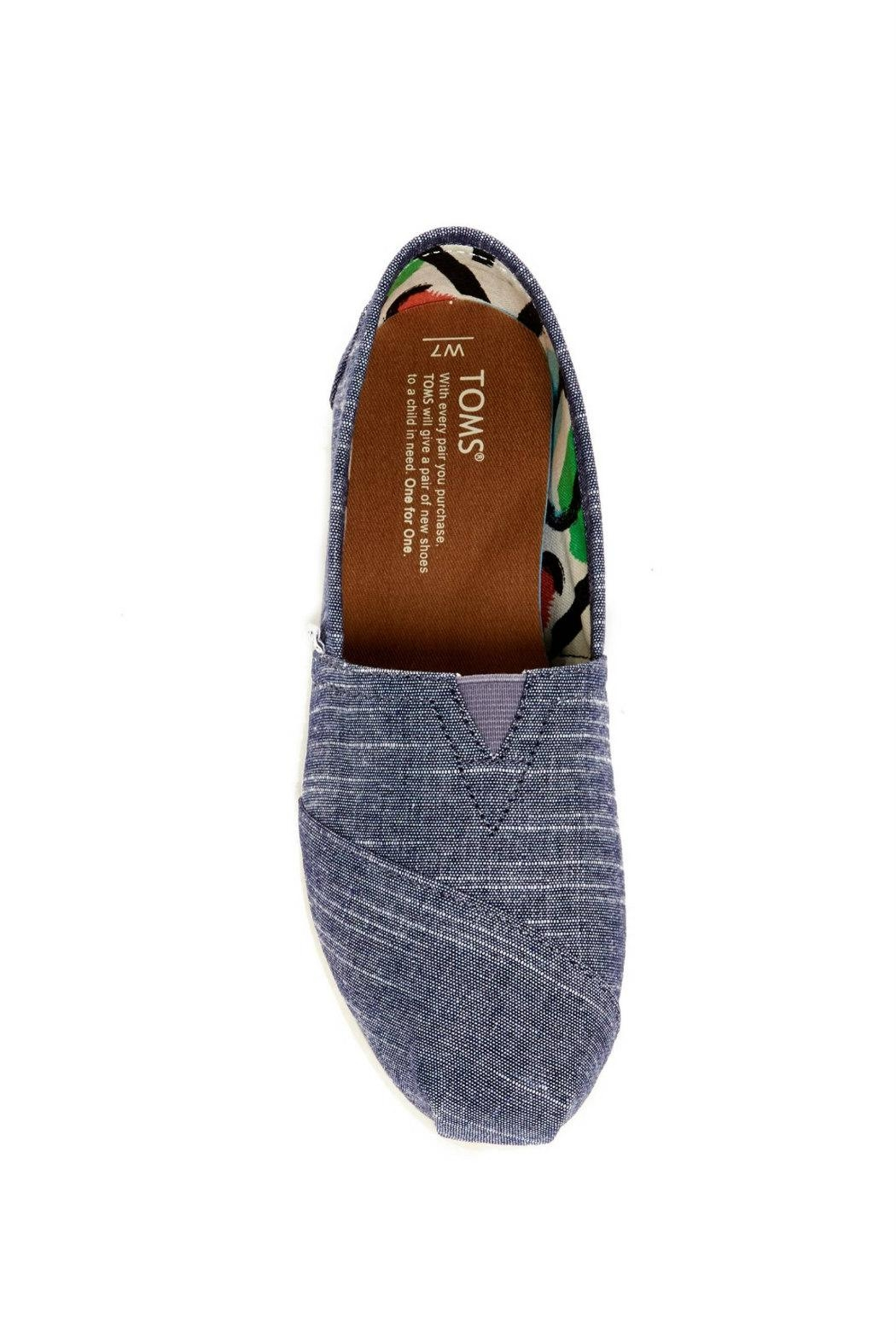 TOMS Classic Chambray Alpergata Shoes - Front Full Image