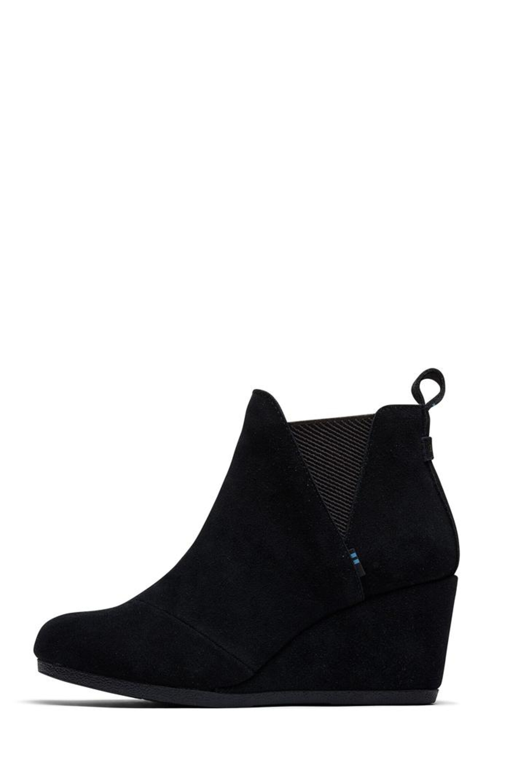 TOMS Kelsey Suede Booties - Front Full Image