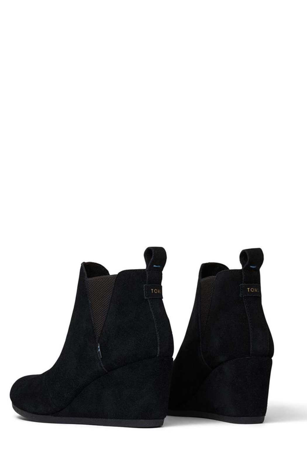 TOMS Kelsey Suede Booties - Back Cropped Image