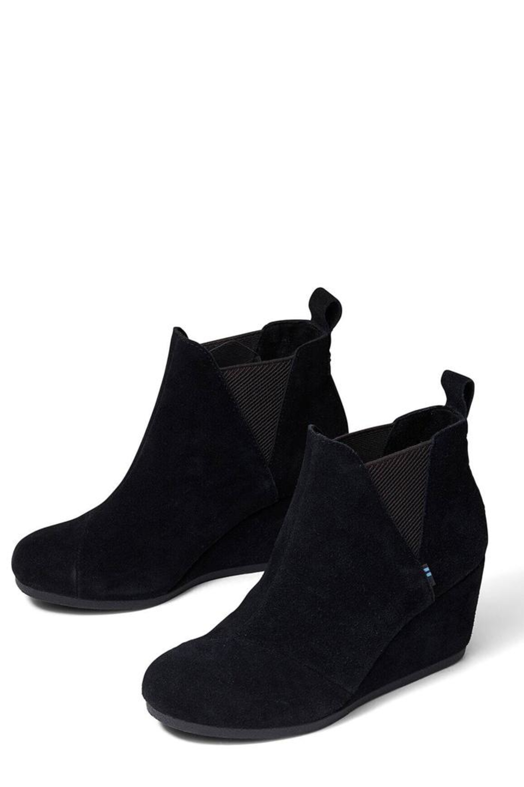TOMS Kelsey Suede Booties - Side Cropped Image