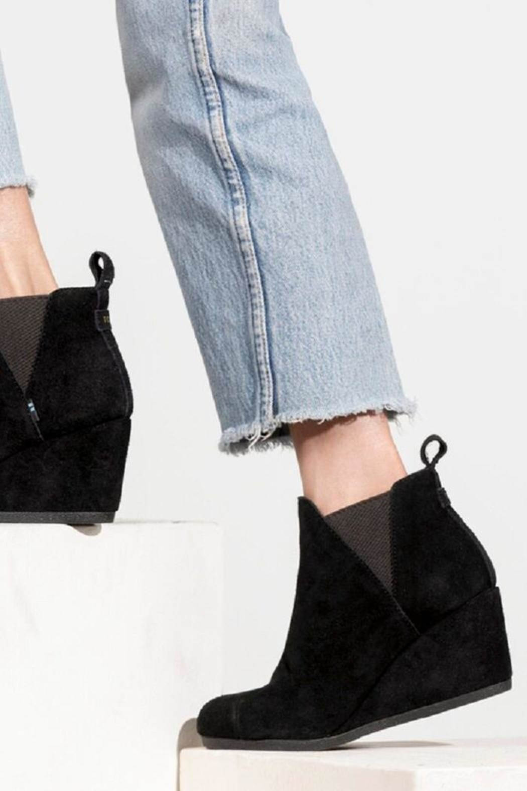 TOMS Kelsey Suede Booties - Front Cropped Image