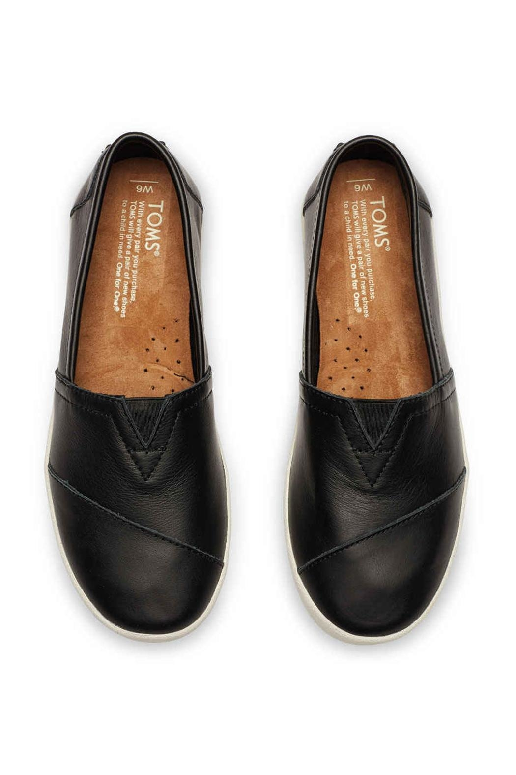 TOMS Leather Avalon Slip Ons - Side Cropped Image