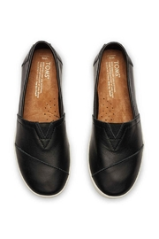 TOMS Leather Avalon Slip Ons - Side cropped