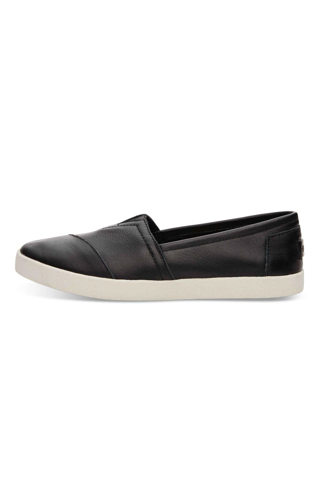 TOMS Leather Avalon Slip Ons - Front Cropped Image
