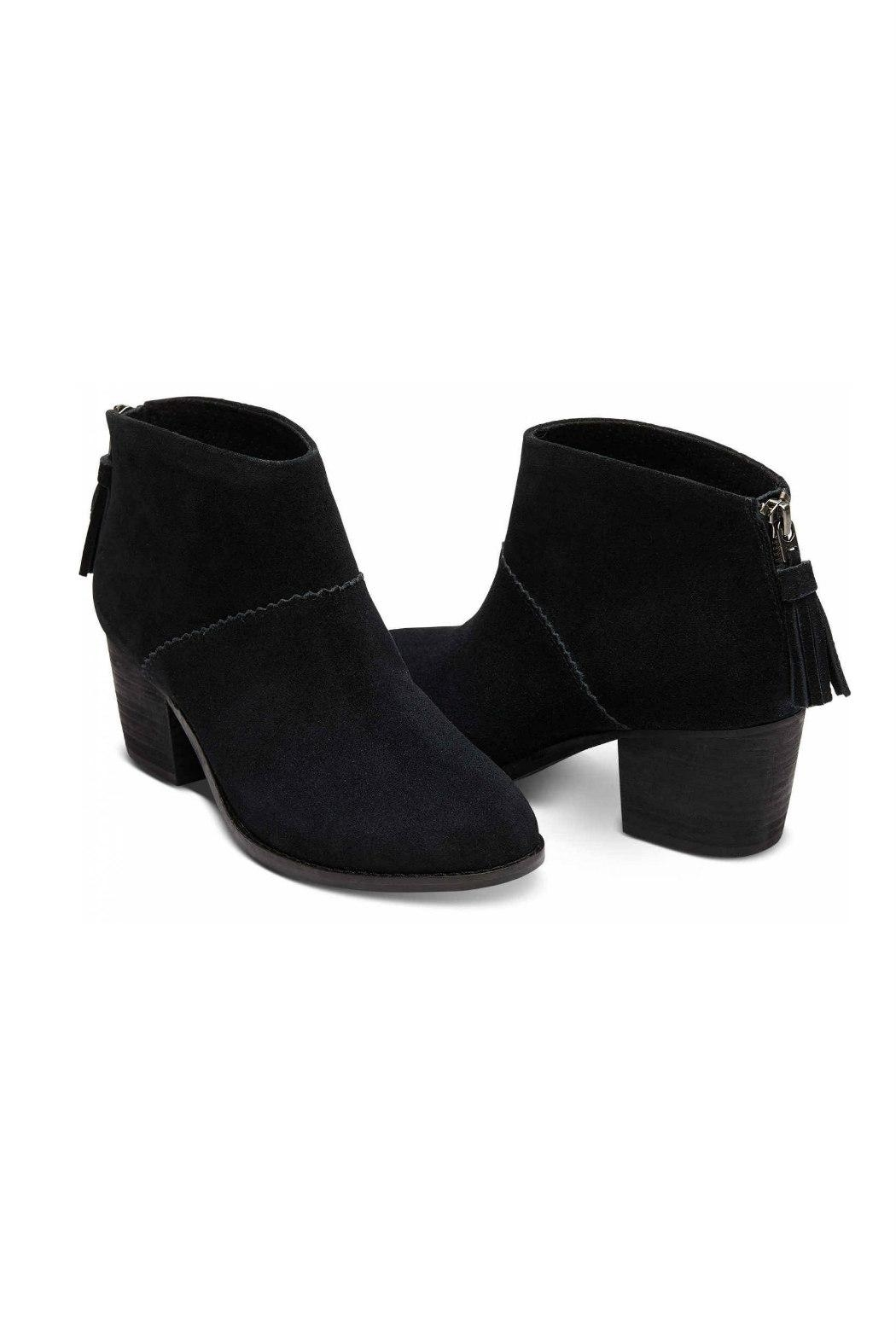 TOMS Leila Suede Bootie - Front Full Image