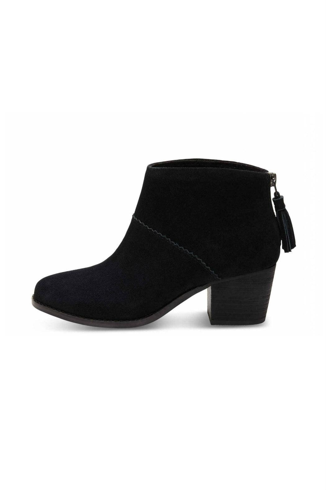 TOMS Leila Suede Bootie - Front Cropped Image