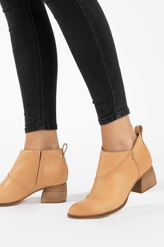 TOMS Leilani Honey-Leather Booties - Product List Image