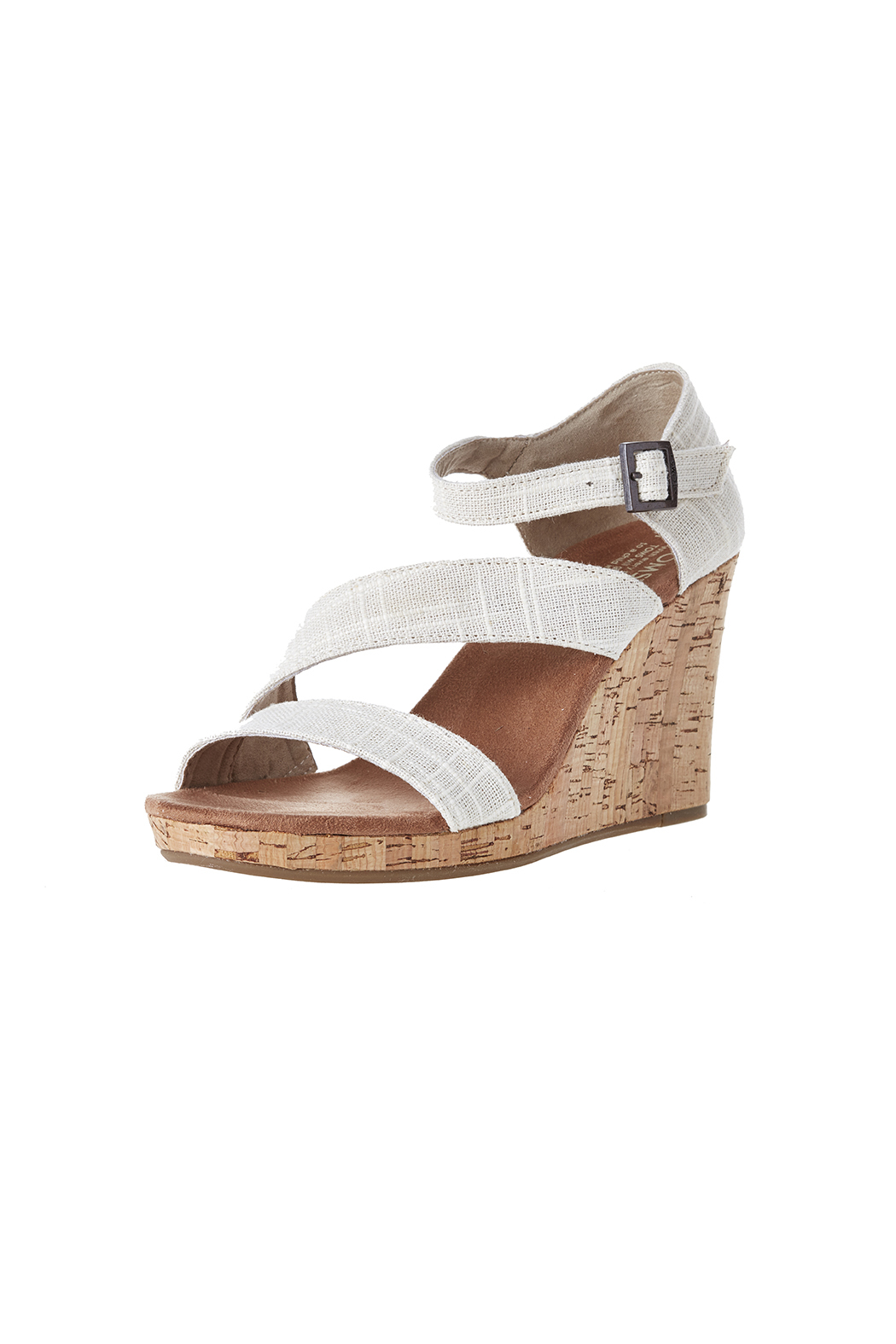 TOMS Clarissa Linen Wedge - Back Cropped Image