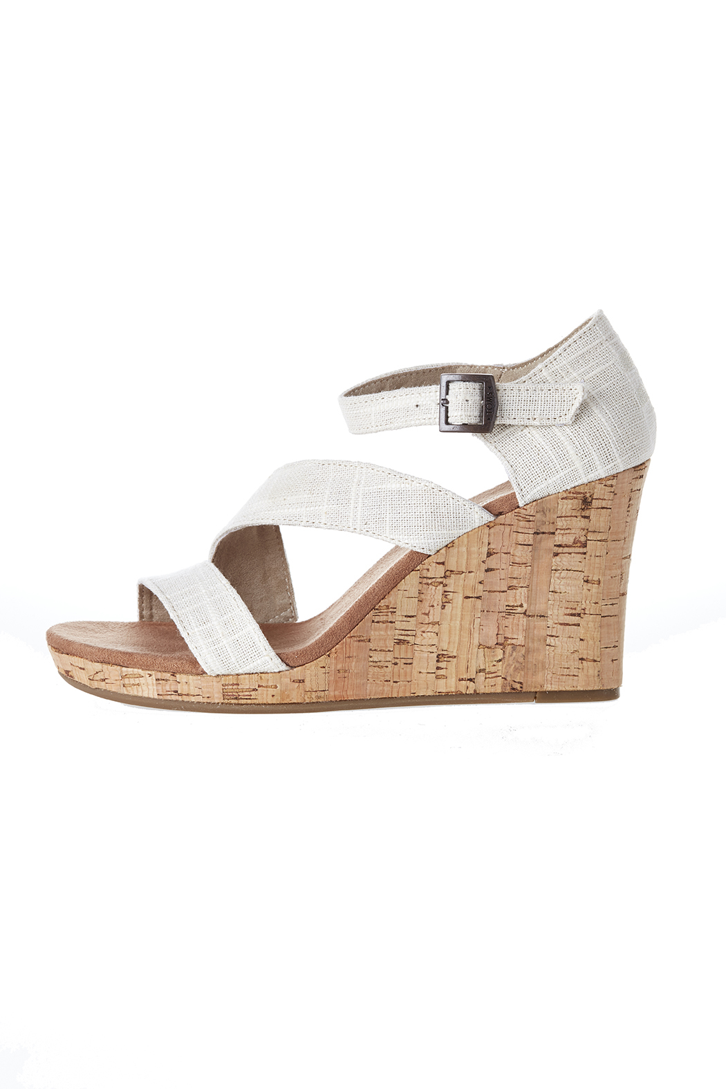TOMS Clarissa Linen Wedge - Front Cropped Image