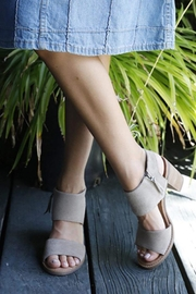 TOMS Majorca Cutout Wedges - Front full body
