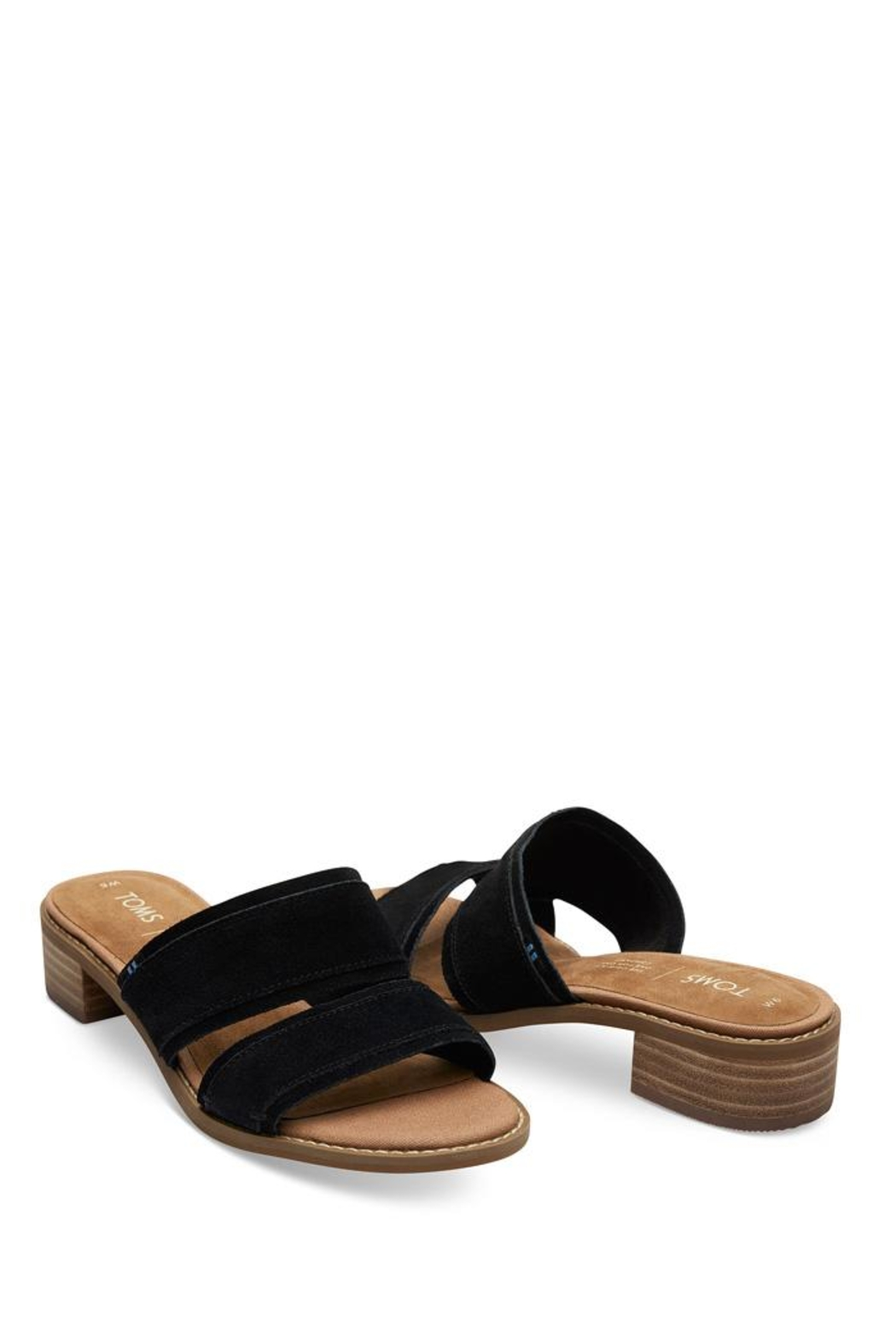 TOMS Mariposa Suede Sandals - Front Full Image