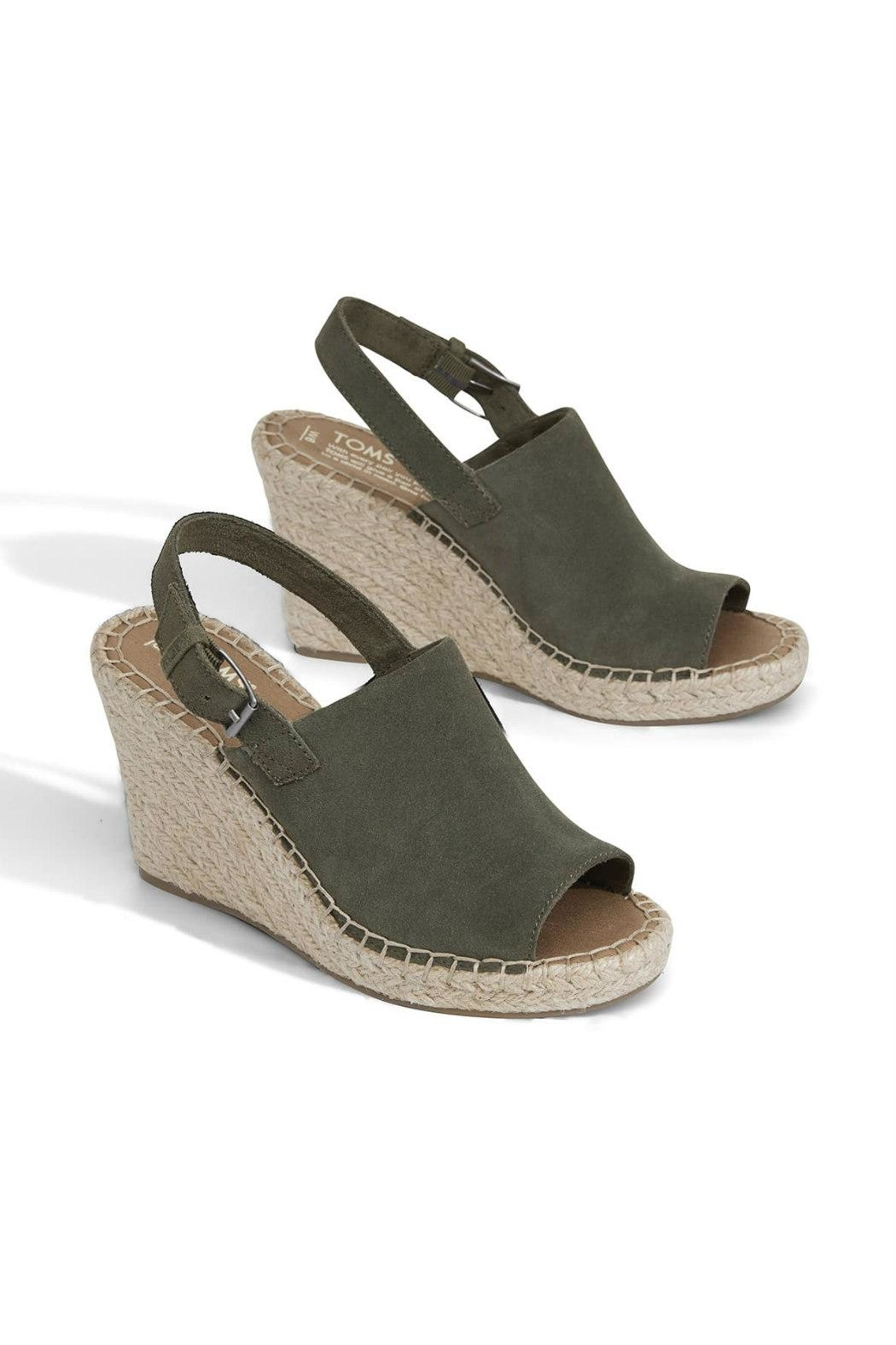 TOMS Monica Suede Wedge - Front Full Image