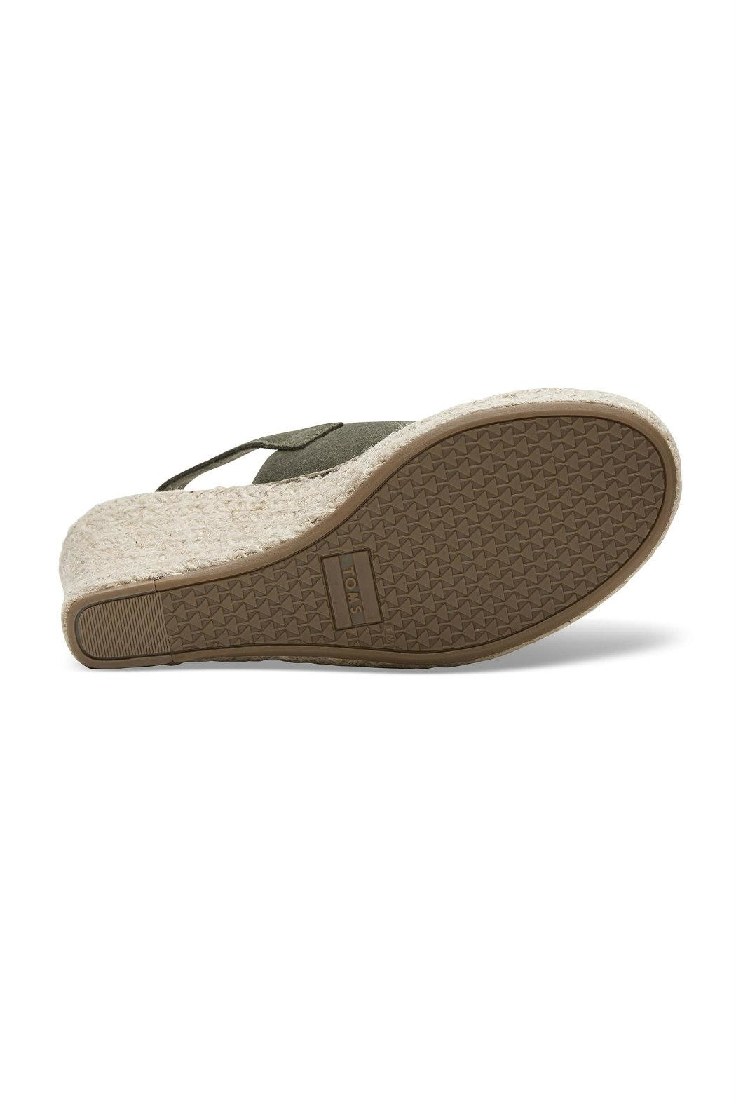 TOMS Monica Suede Wedge - Side Cropped Image