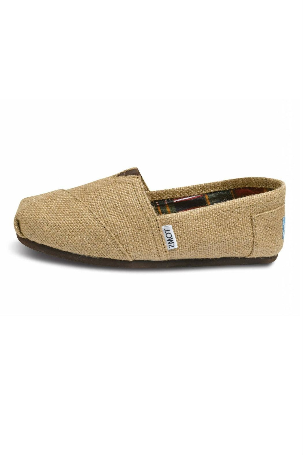 TOMS Natural Burlap Alpergata Shoes - Main Image