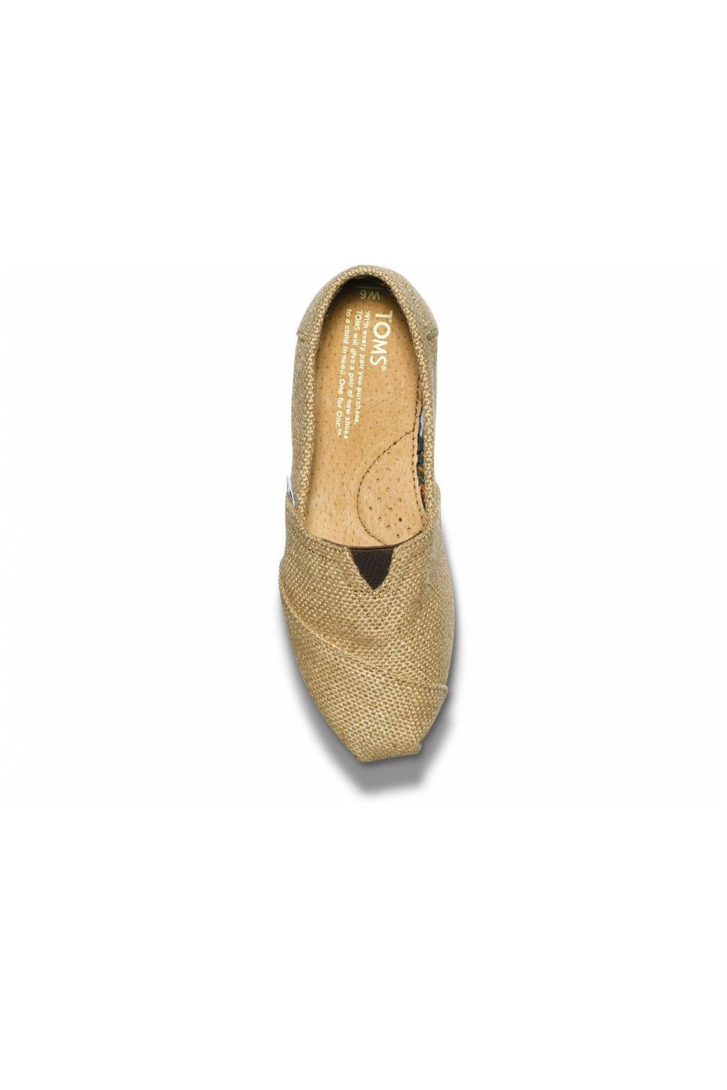 TOMS Natural Burlap Alpergata Shoes - Side Cropped Image