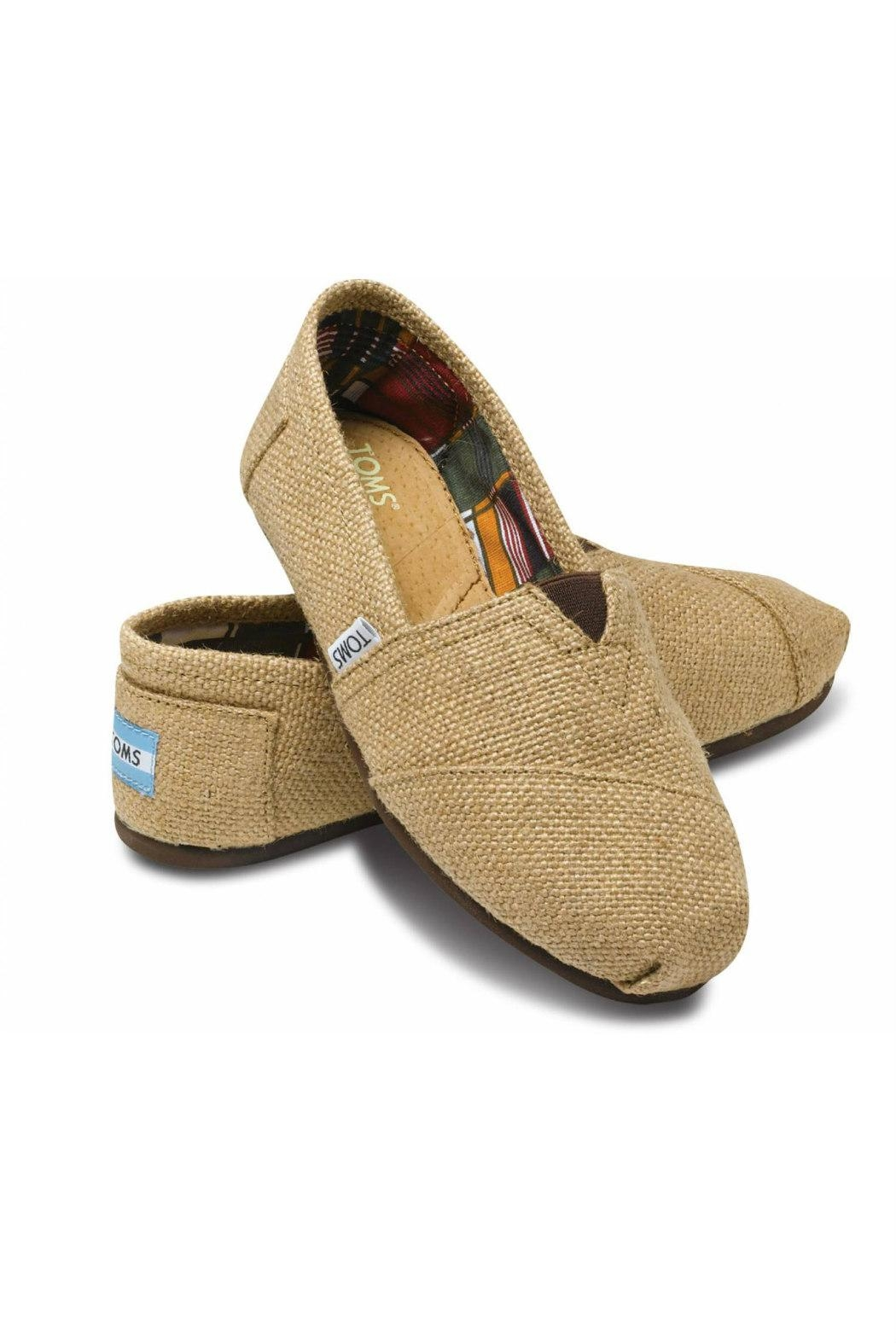 TOMS Natural Burlap Alpergata Shoes - Front Full Image
