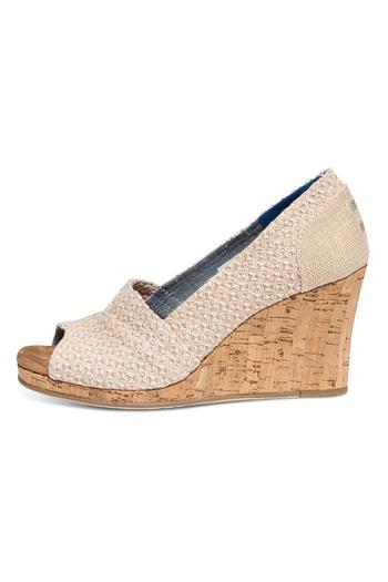 TOMS Printed Cork Wedge - Main Image