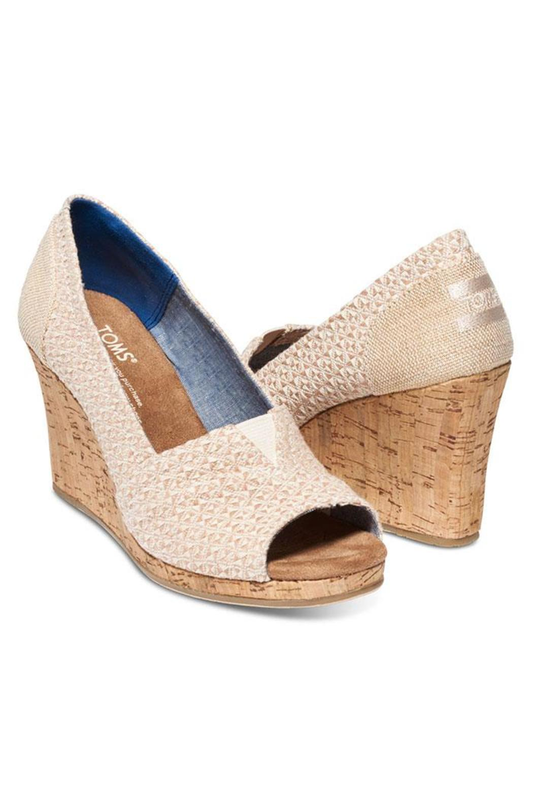 TOMS Printed Cork Wedge - Front Full Image