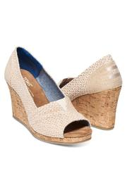 TOMS Printed Cork Wedge - Front full body