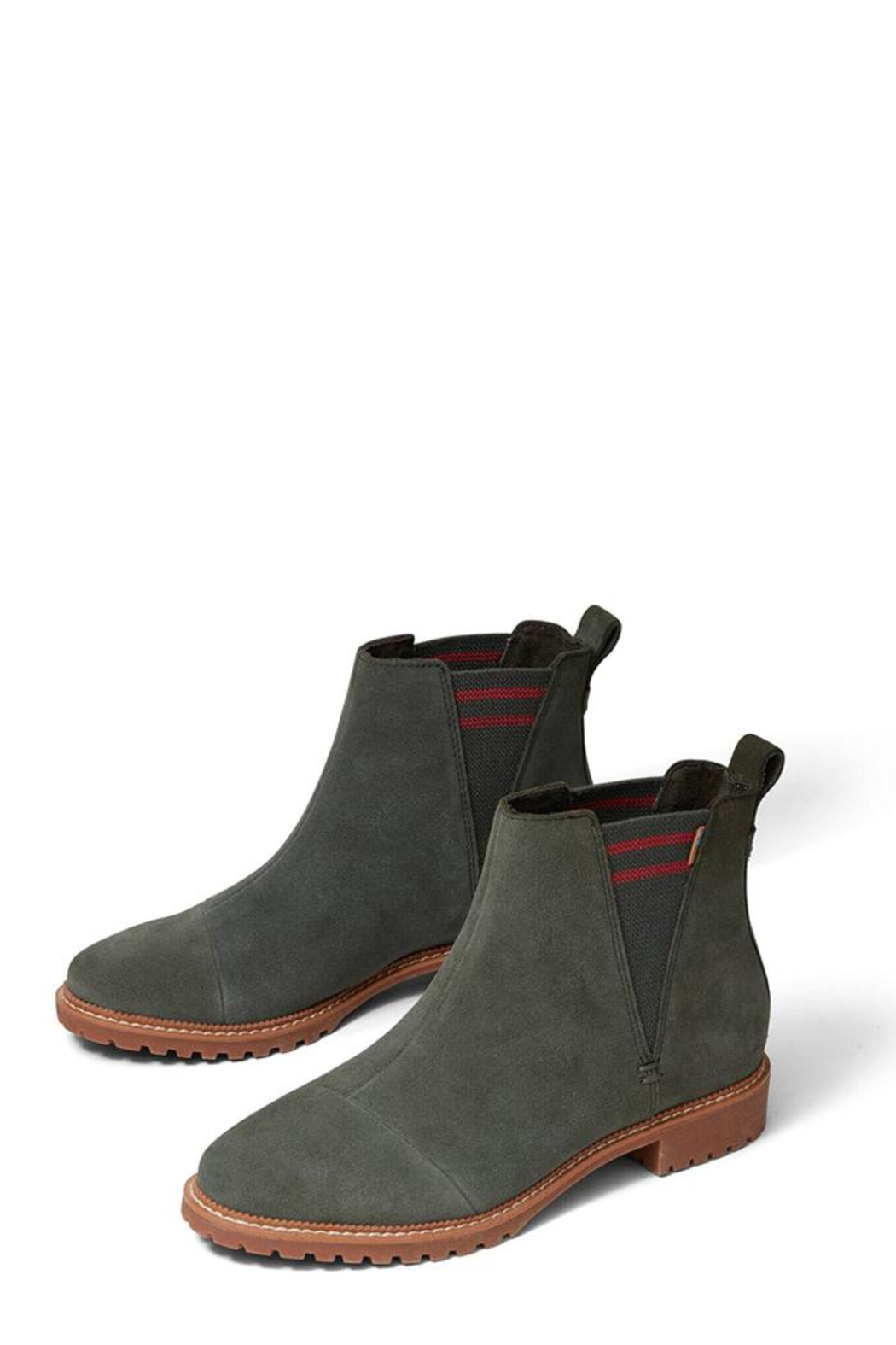 TOMS Suede Cleo Booties - Front Full Image