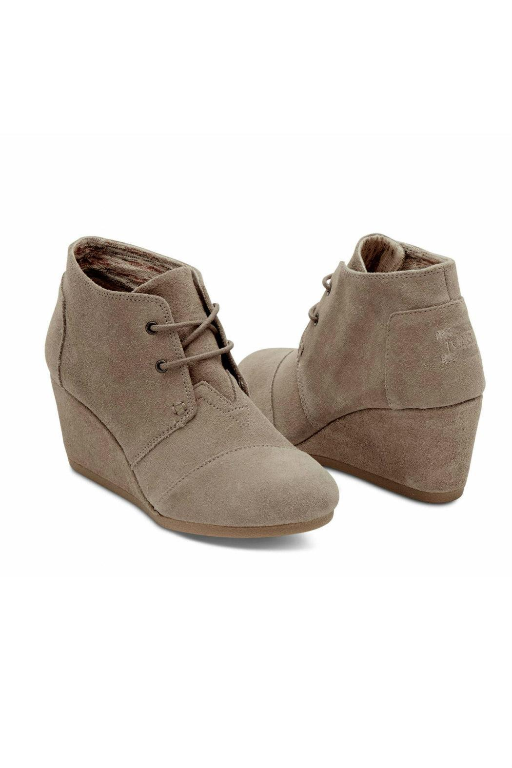 TOMS Suede Desert Wedge - Front Full Image