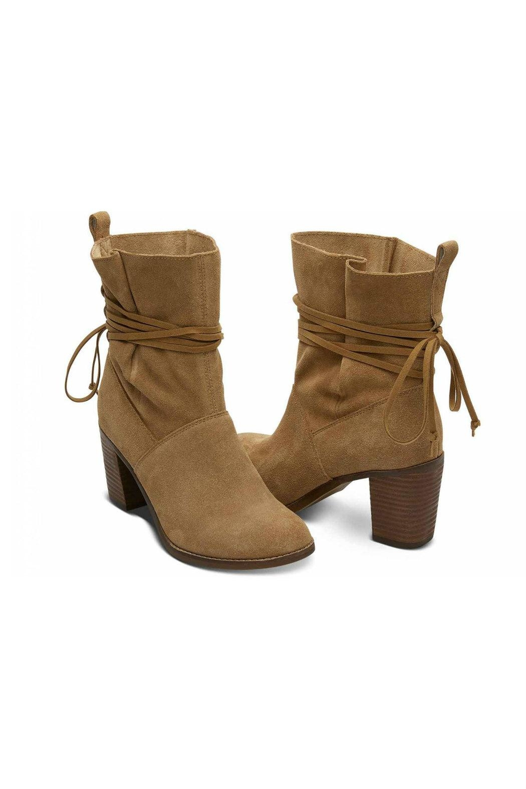 TOMS Suede Mila Boots - Front Full Image