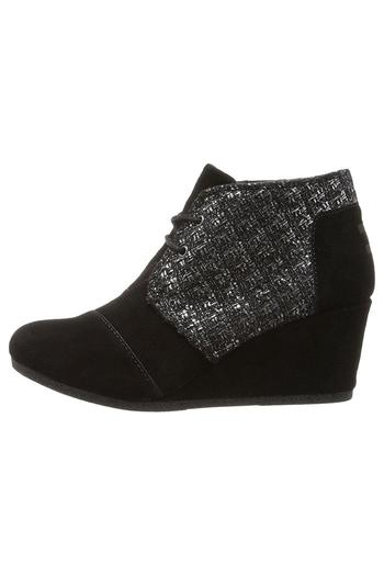 Shoptiques Product: Suede Shimmer Wedges - main