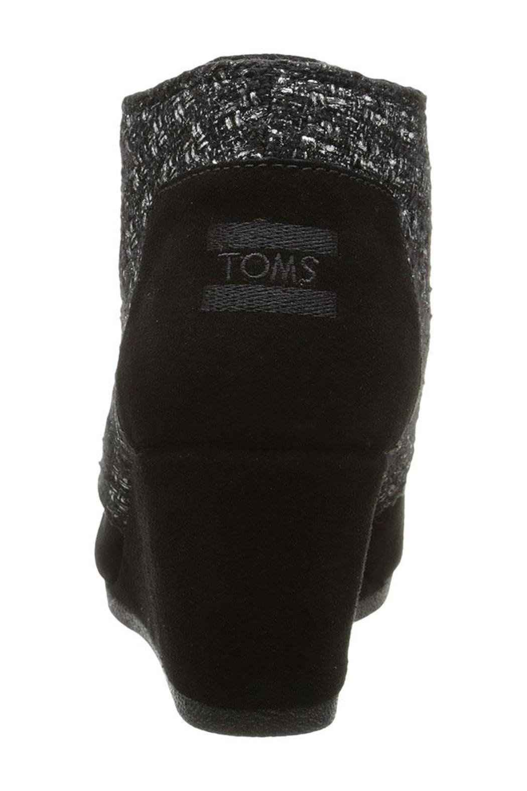TOMS Suede Shimmer Wedges - Side Cropped Image