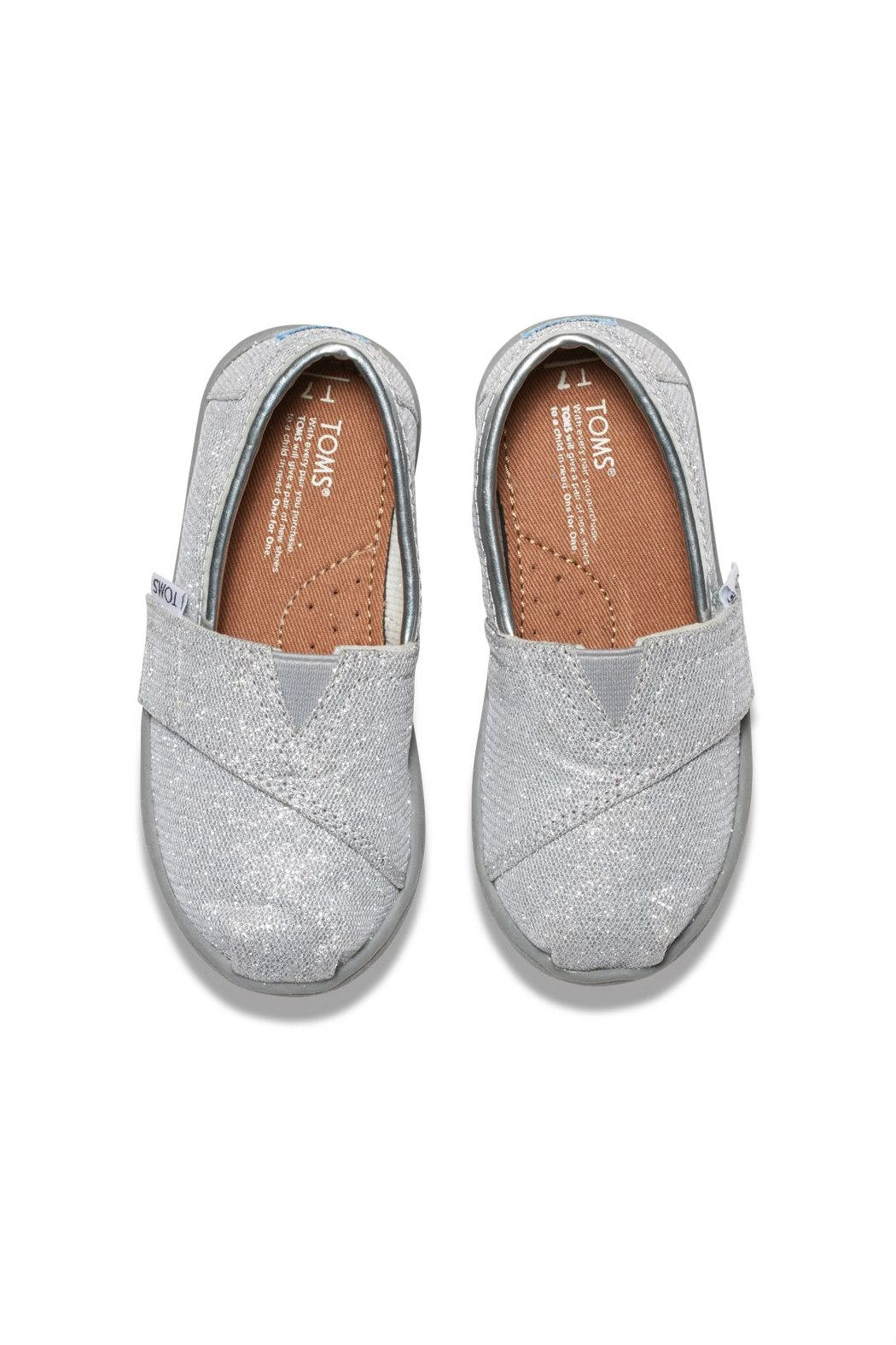 TOMS Silver Alpergata Shoes - Side Cropped Image