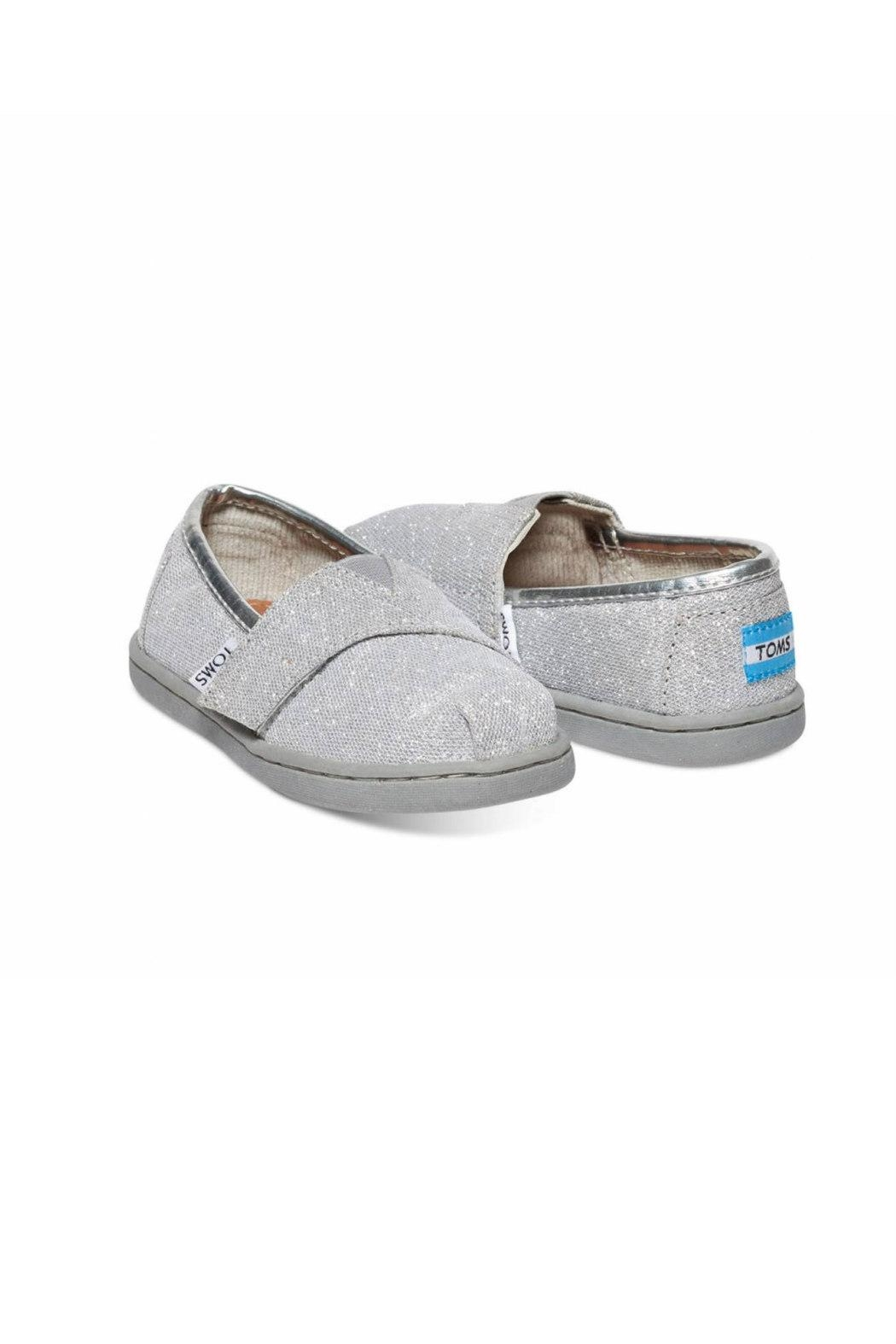 TOMS Silver Alpergata Shoes - Front Full Image