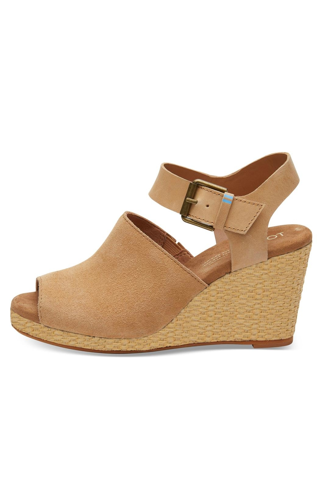 TOMS Tropez Suede Wedge - Main Image